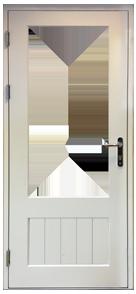 Part Glazed Grooved Panel